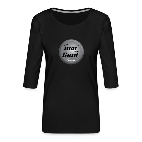 Ne Klik Mee Gent vzw The Loggia - Vrouwen premium shirt 3/4-mouw