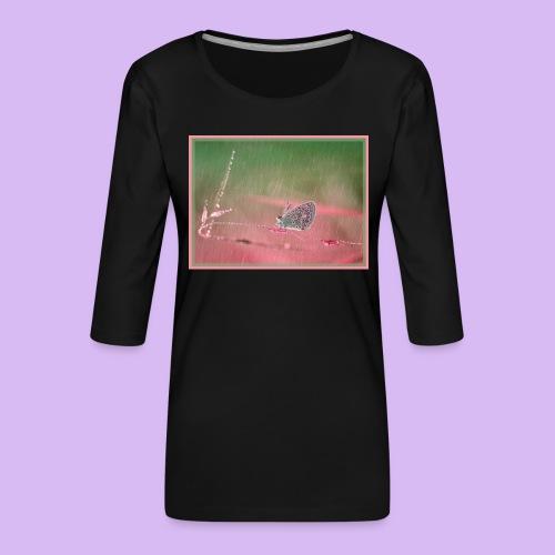 Farfalla nella pioggia leggera - Maglietta da donna premium con manica a 3/4