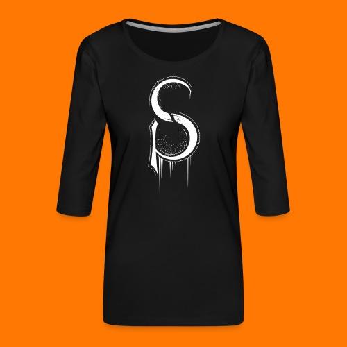 SCP-sign-WHITE transp - Women's Premium 3/4-Sleeve T-Shirt