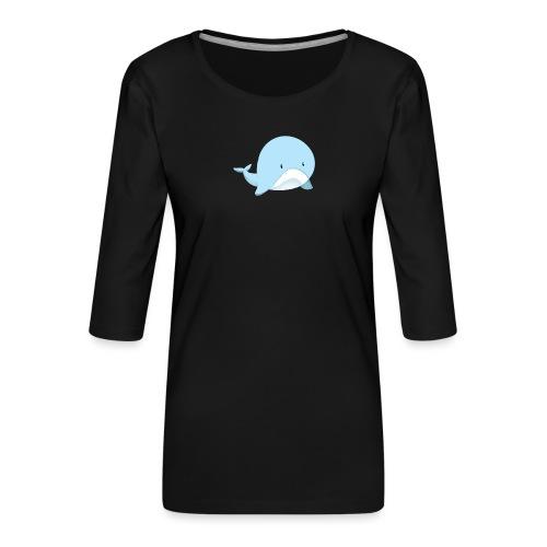 Whale - Maglietta da donna premium con manica a 3/4