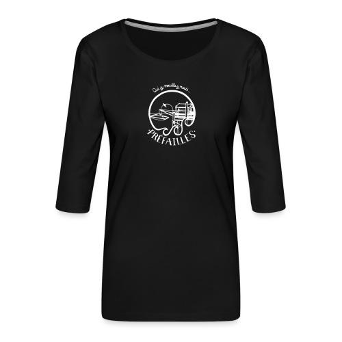 Les pêcheries de Prefailles - T-shirt Premium manches 3/4 Femme
