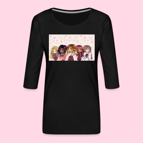 bggals png - T-shirt Premium manches 3/4 Femme
