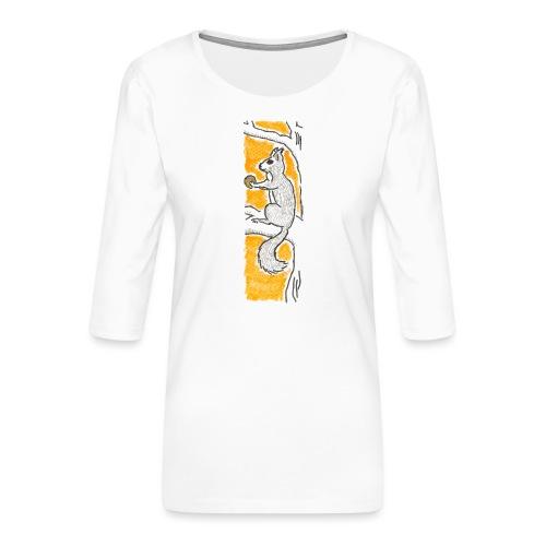scoiattolo_alma_2015 - Maglietta da donna premium con manica a 3/4