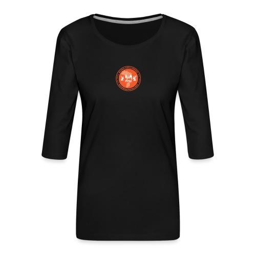Duna Colligere Orange - Premium T-skjorte med 3/4 erme for kvinner