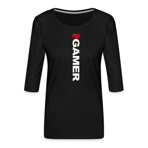 Pro Gamer (weiss) - Frauen Premium 3/4-Arm Shirt