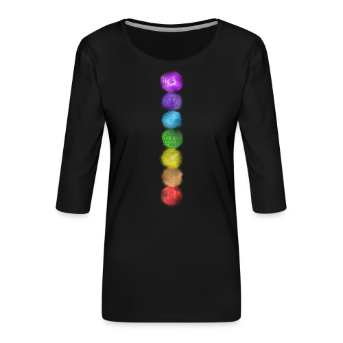 linea chakra - Maglietta da donna premium con manica a 3/4