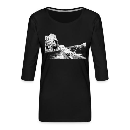 J'aime Mouleydier - Pont F - T-shirt Premium manches 3/4 Femme