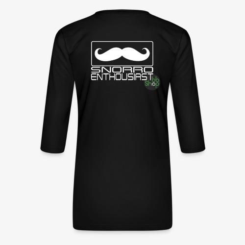 Snorro enthusiastic (white) - Women's Premium 3/4-Sleeve T-Shirt