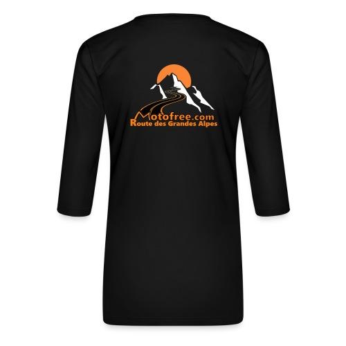 logo motofree orange - T-shirt Premium manches 3/4 Femme