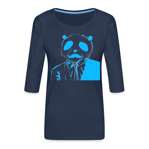 BluePanda Logo - Women's Premium 3/4-Sleeve T-Shirt
