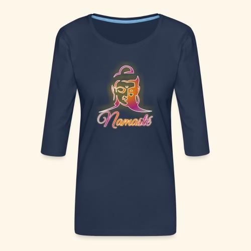 Buddha - Namasté - Frauen Premium 3/4-Arm Shirt