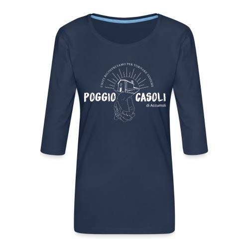 Poggio Casoli_Istituzionale_Bianco - Maglietta da donna premium con manica a 3/4