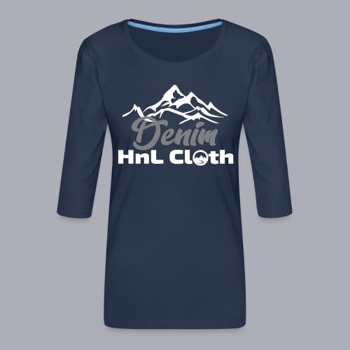 H&L Denim mountain n°1 - T-shirt Premium manches 3/4 Femme
