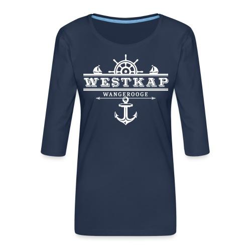 Westkap Wangerooge Logo - Frauen Premium 3/4-Arm Shirt