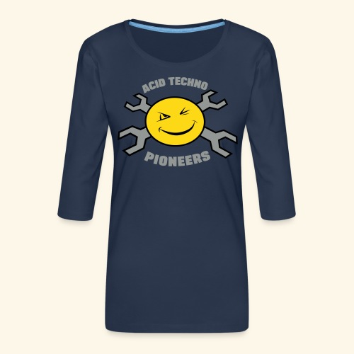 ACID TECHNO PIONEERS - SILVER EDITION - Women's Premium 3/4-Sleeve T-Shirt