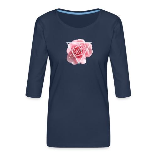 Rose Logo - Women's Premium 3/4-Sleeve T-Shirt