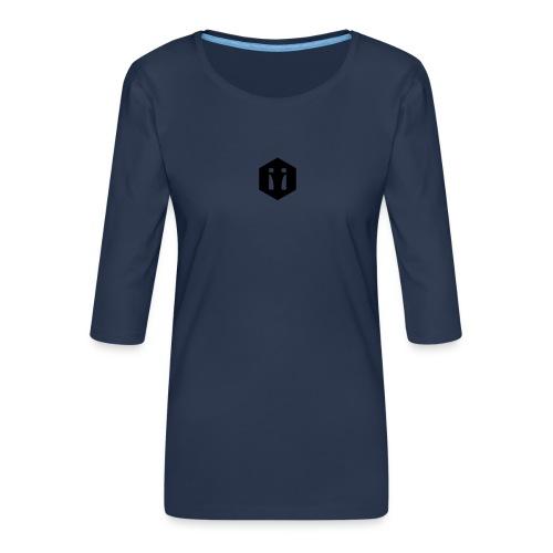 Logo Spiegelbild transparent - Frauen Premium 3/4-Arm Shirt
