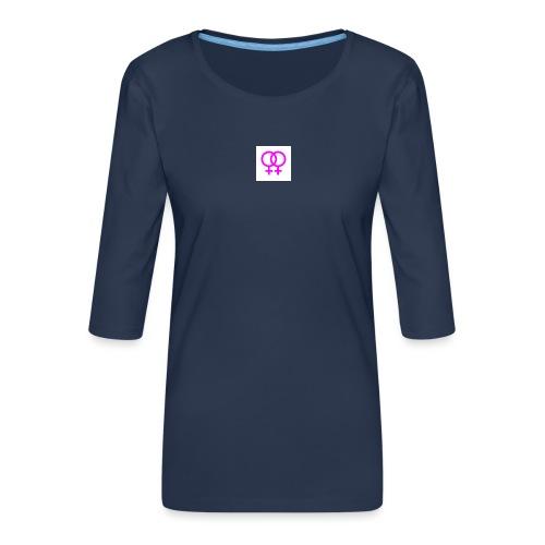 lesbian logo - T-shirt Premium manches 3/4 Femme