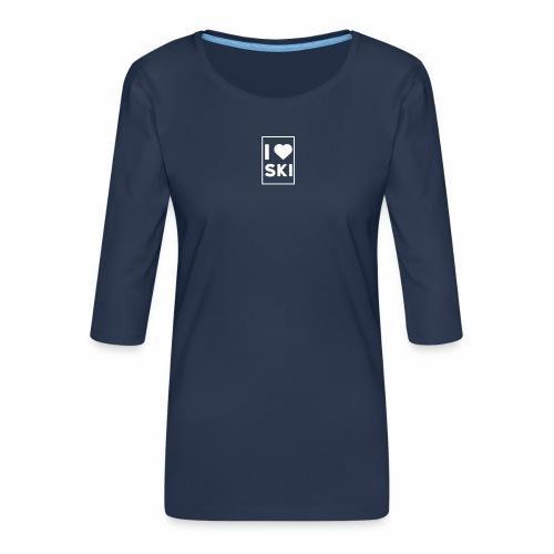 I love ski - T-shirt Premium manches 3/4 Femme