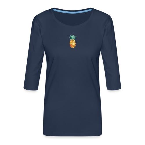 pinety logo print - Dame Premium shirt med 3/4-ærmer
