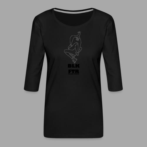 BLK FTR N°7 - Maglietta da donna premium con manica a 3/4