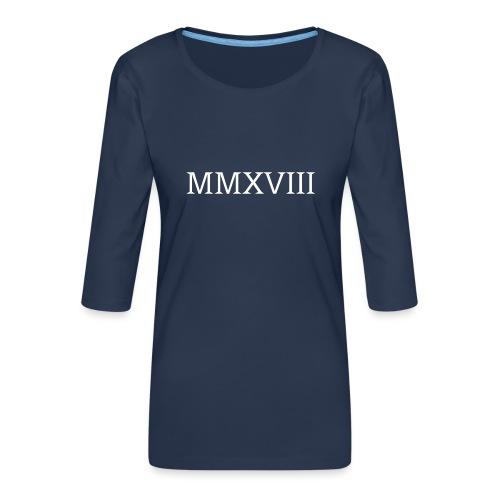 MMXVII - design - T-shirt Premium manches 3/4 Femme