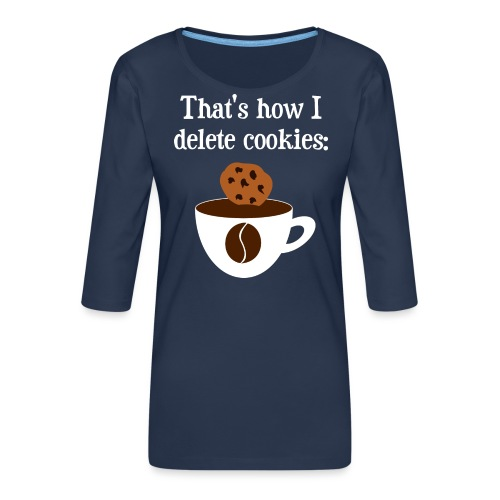 Cookies Kaffee Nerd Geek - Frauen Premium 3/4-Arm Shirt