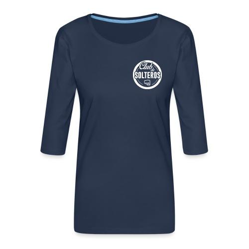 Club de Solteros (logo blanco) - Camiseta premium de manga 3/4 para mujer