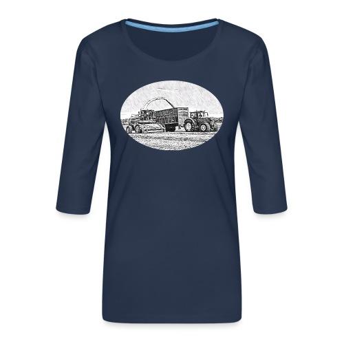 Sillageernte - Frauen Premium 3/4-Arm Shirt