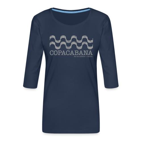 Copacabana - Camiseta premium de manga 3/4 para mujer