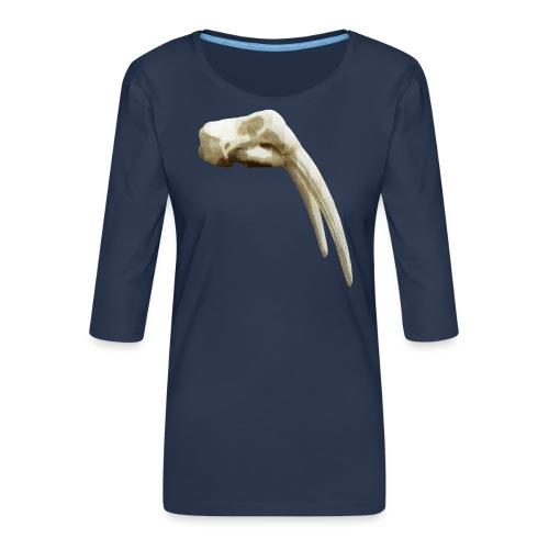 Schedel van een walrus - Vrouwen premium shirt 3/4-mouw