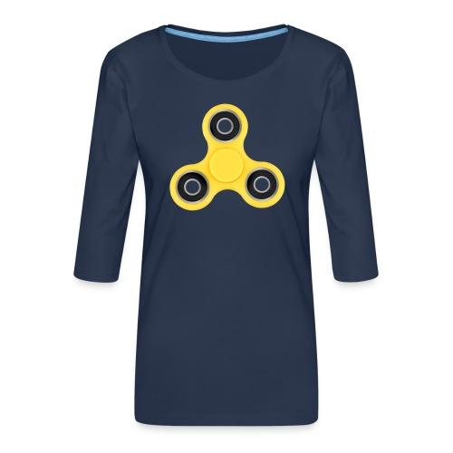 Hand Spinner - T-shirt Premium manches 3/4 Femme