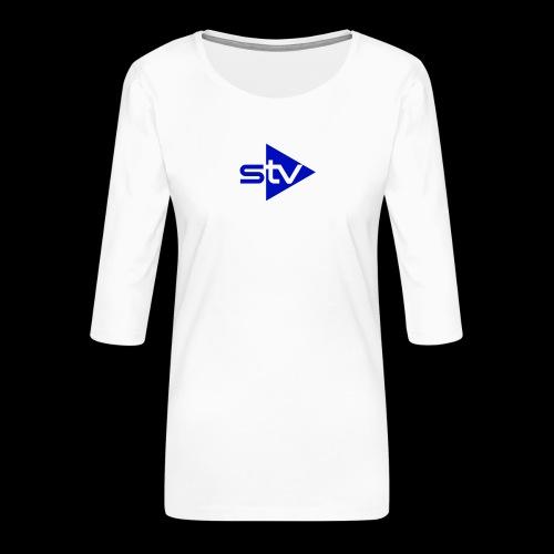 Skirä television - Premium-T-shirt med 3/4-ärm dam