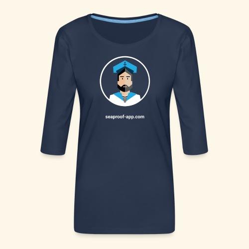 SeaProof App - Frauen Premium 3/4-Arm Shirt