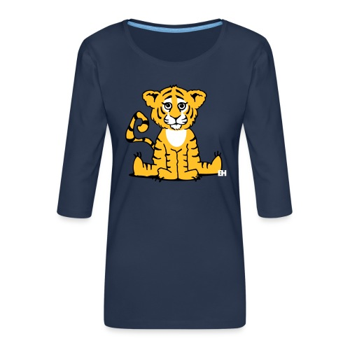 Tiger cub - Women's Premium 3/4-Sleeve T-Shirt