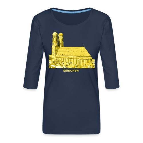 München Bayern Frauenkirche Landeshauptstadt - Frauen Premium 3/4-Arm Shirt