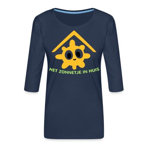 Grappige Rompertjes: Het zonnetje in huis - Vrouwen premium shirt 3/4-mouw