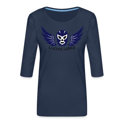 Lucha Libre - T-shirt Premium manches 3/4 Femme