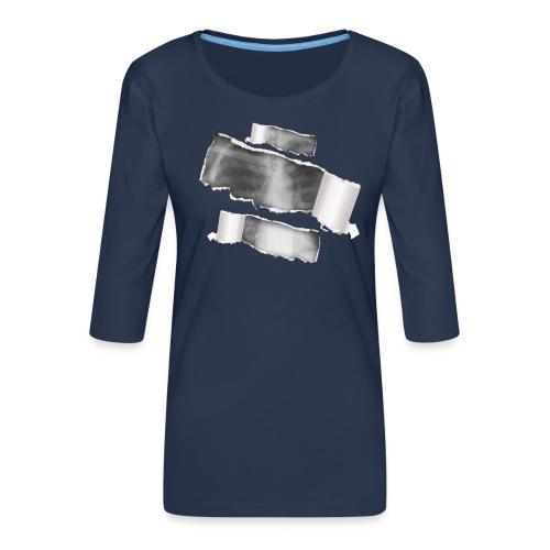 Chest X-Ray - Maglietta da donna premium con manica a 3/4