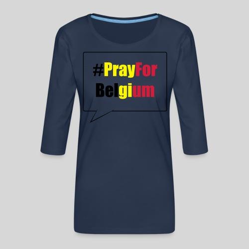 #PrayForBelgium - T-shirt Premium manches 3/4 Femme
