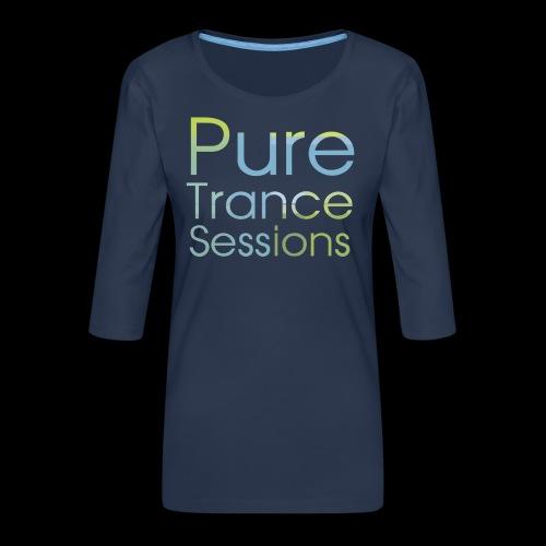 PureTrance100 transparantGROOT kopie png - Women's Premium 3/4-Sleeve T-Shirt