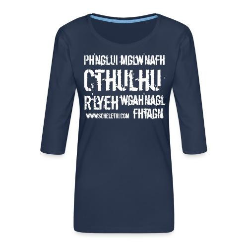 Cthulhu - Maglietta da donna premium con manica a 3/4