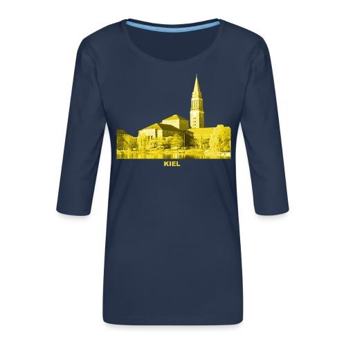 Kiel Rathaus Landeshauptstadt Schleswig-Holstein - Frauen Premium 3/4-Arm Shirt