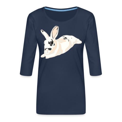 Konijn - Vrouwen premium shirt 3/4-mouw