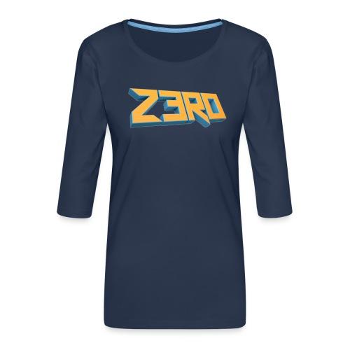 The Z3R0 Shirt - Women's Premium 3/4-Sleeve T-Shirt