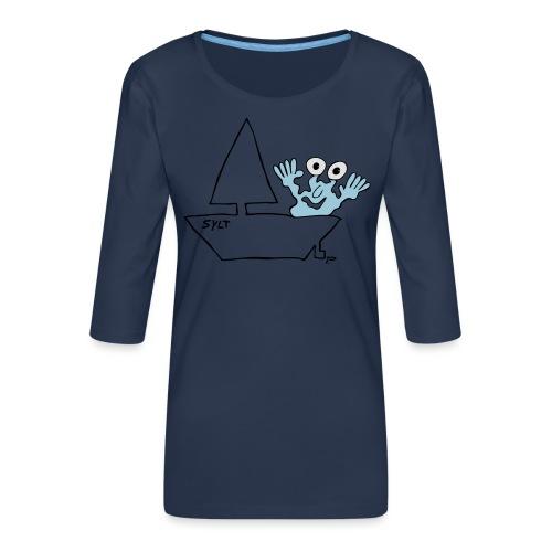 Segelmonster Sylt - Frauen Premium 3/4-Arm Shirt