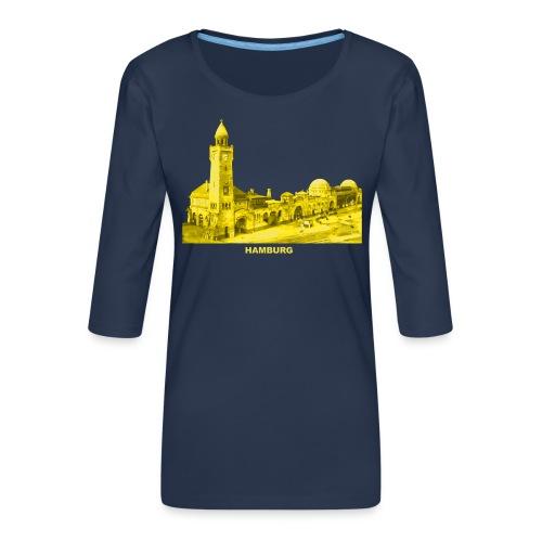 Hamburg Hansestadt Landungsbrücke Fischmarkt Hafen - Frauen Premium 3/4-Arm Shirt
