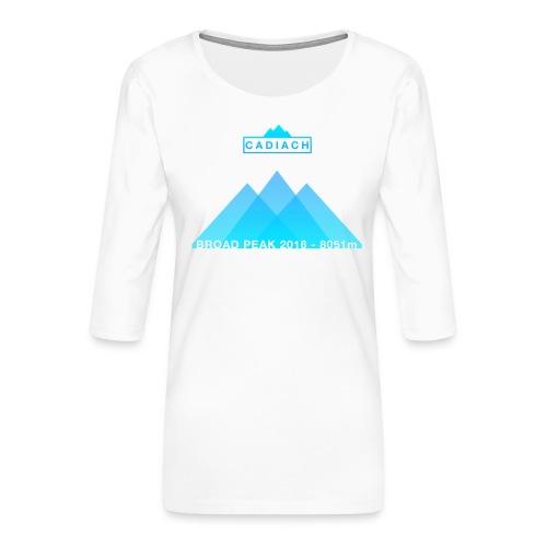 Cadiach Broad Peak 2016 - Mujer - Camiseta premium de manga 3/4 para mujer