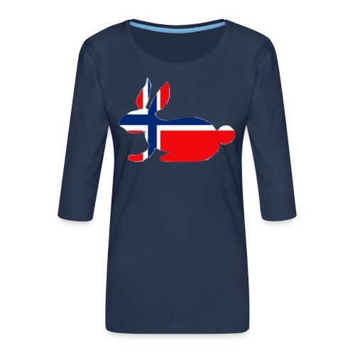 norwegian bunny - Women's Premium 3/4-Sleeve T-Shirt
