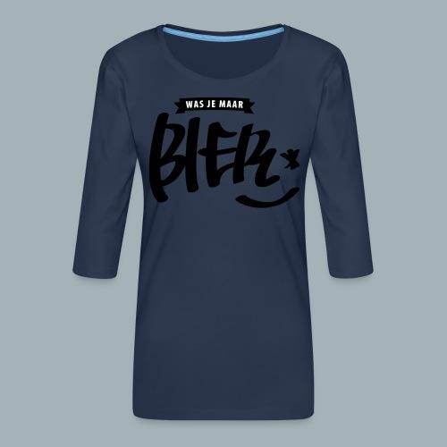 Bier Premium T-shirt - Vrouwen premium shirt 3/4-mouw
